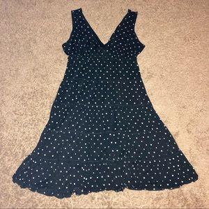 🌺 Style & Co Sleeveless V-Neck Polka Dot Dress